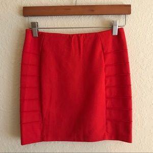 Forever 21 red pleated mini skirt